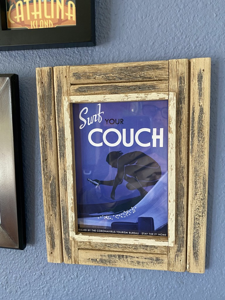 Surf your couch postcard