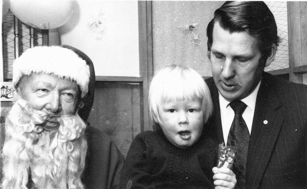 Santa, David, David's father