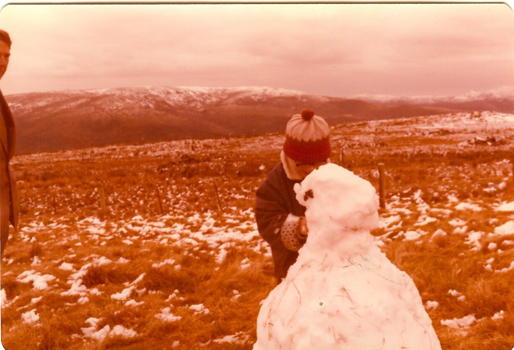 David making a snowman