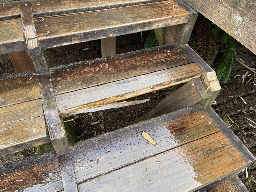Broken step