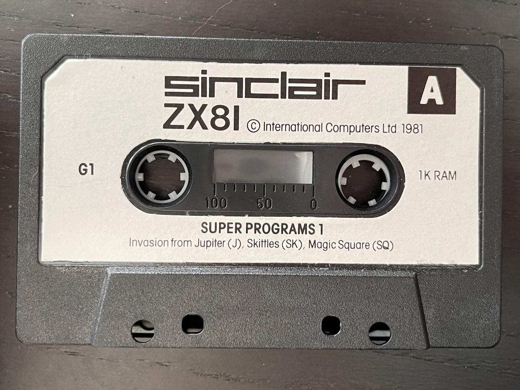 ZX81 programs cassette tape