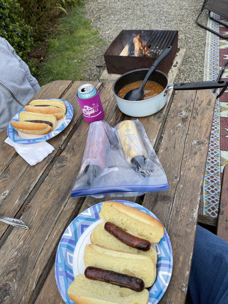 Hot dogs and baked beans