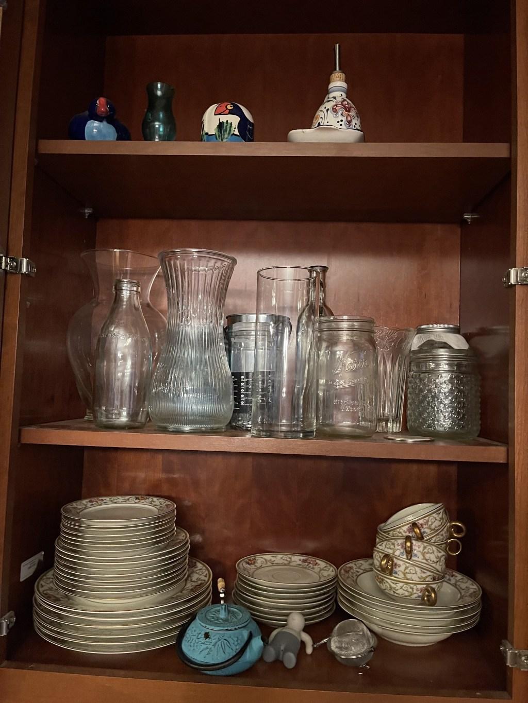 Antique plates, vases, etc