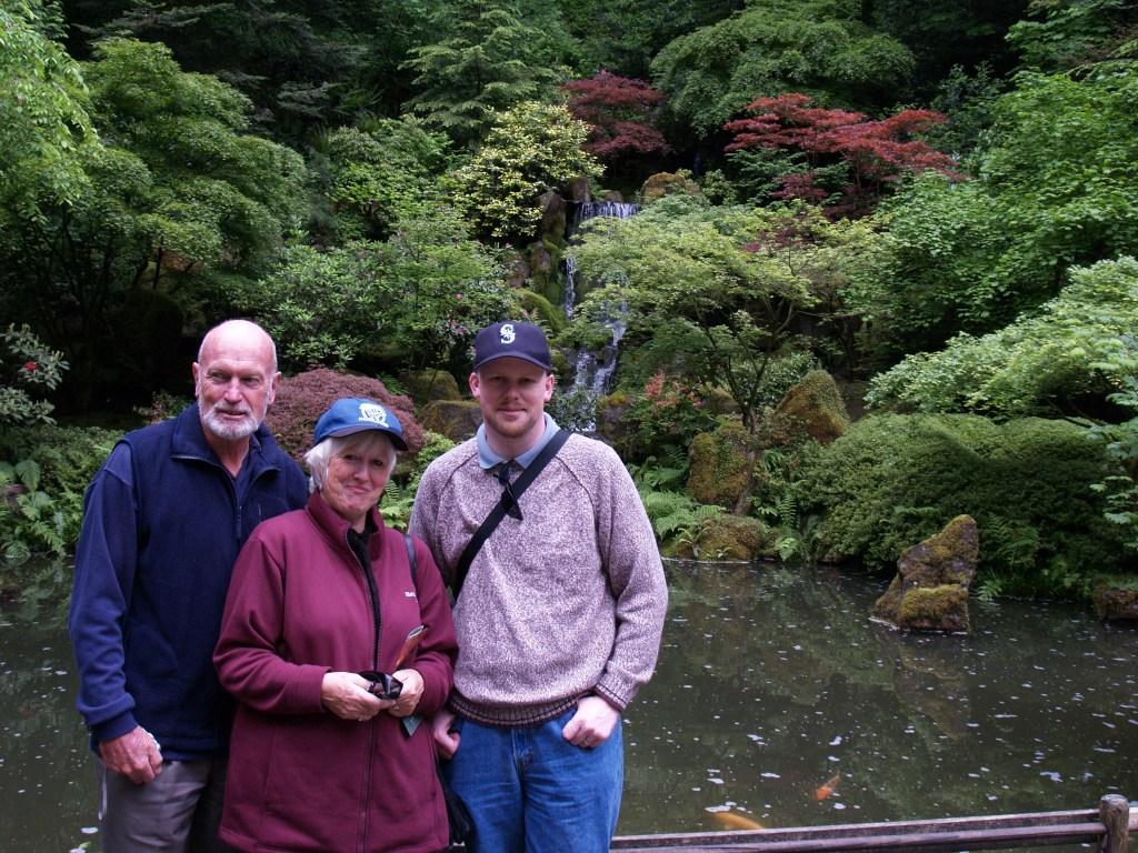 Brian, Mum, David at Japanese Garden
