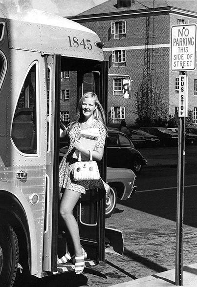 DeKalb's Huskie Bus Line transportation system was born (1971)