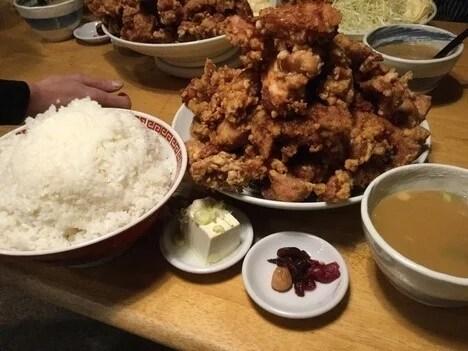 川越市二代目麺屋蝦夷デカ盛りトリプルからあげ定食三度挑戦