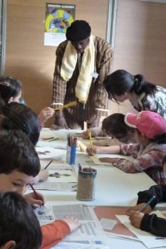 Atelier de création avec des enfants
