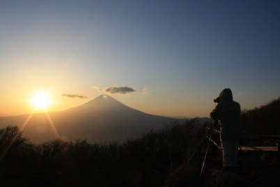 Mount Fuji, sunset from Mount Kintoki