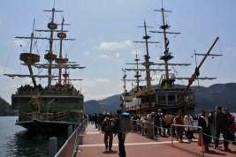 boarding a pirat's boat