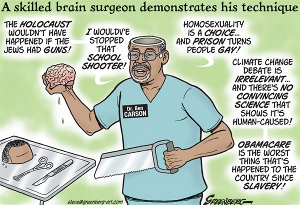 More Ben Carson Political Cartoons CAFFEINATED POLITICS