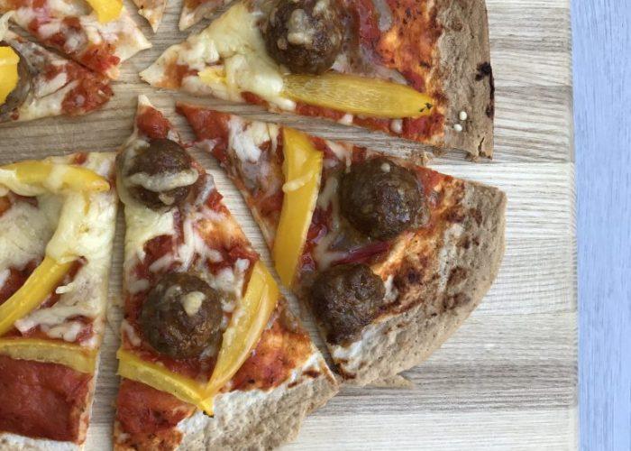 gehaktballen pizza