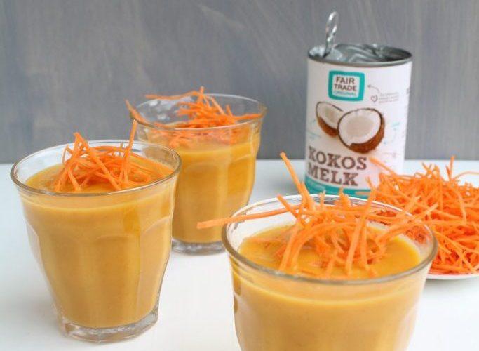 Thaise wortelsoep met kokos