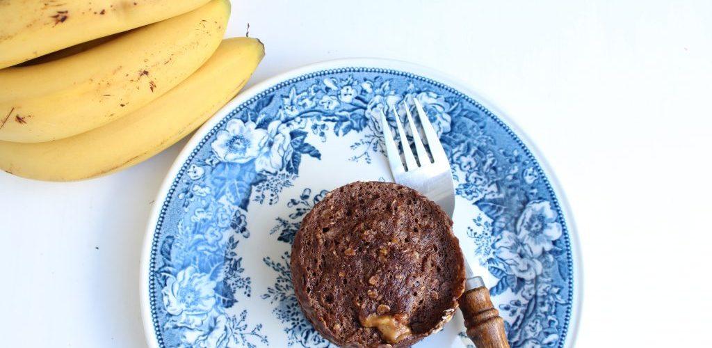 PB en brownie mug cake