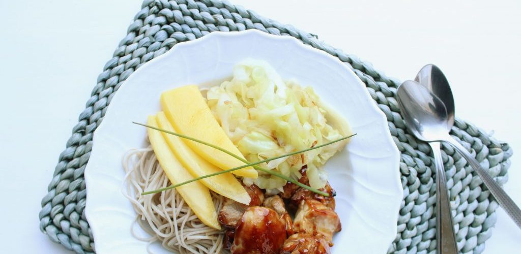 Kalkoen met noodles en spitskool0