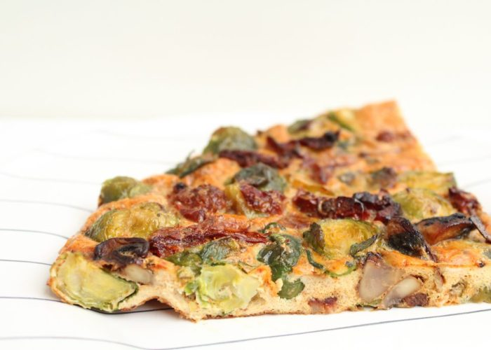 Low carb quiche met spruitjes