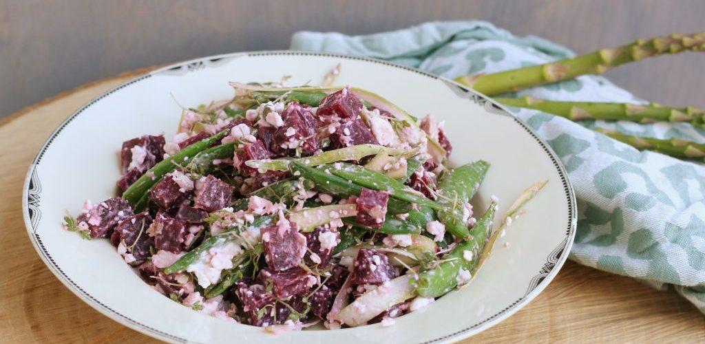 Salade met makreel en bietjes