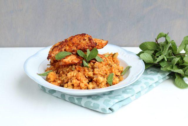 Jambalaya met rijst en kip