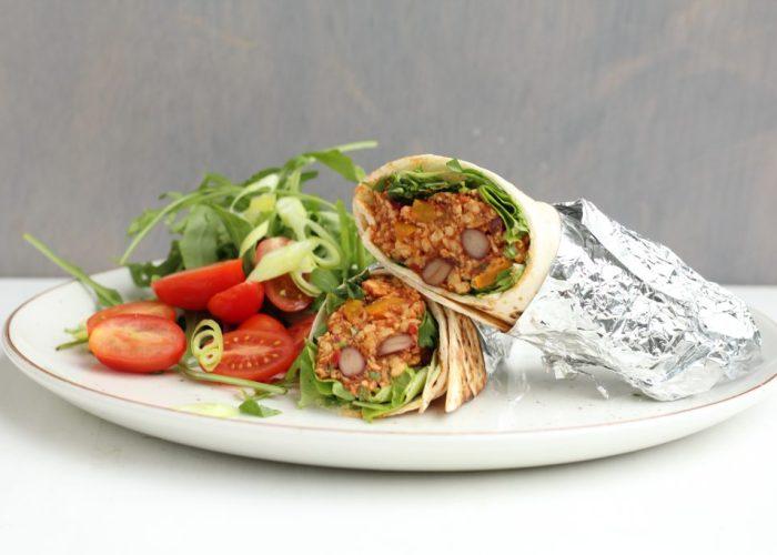 Vegan tex mex burrito