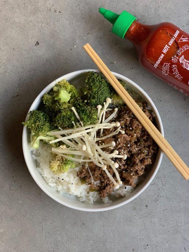 Gehakt met rijst