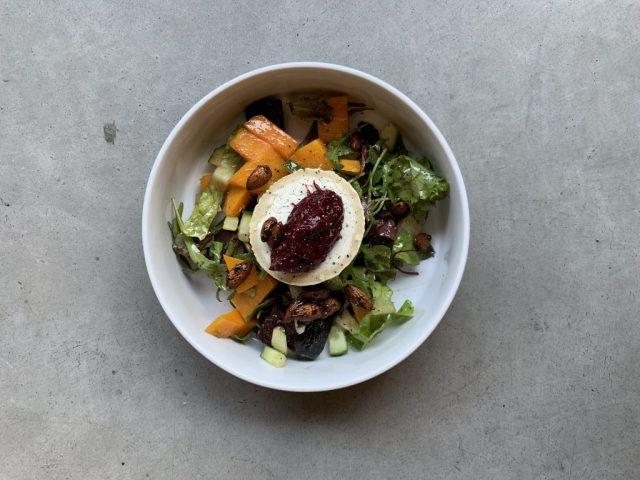 salade met pompoen en bietjes