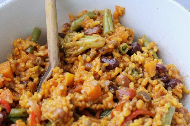 paella met groente