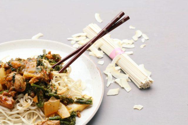 udon noodles met groente