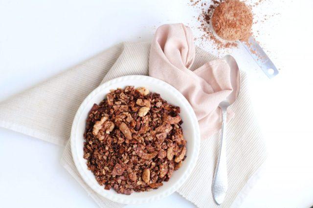 recept voor chocolade granola