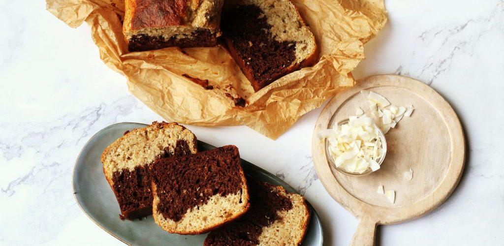 Gezonde kokos en chocoladecake