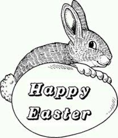 Happy Easter Eggs Coloring Print Pages