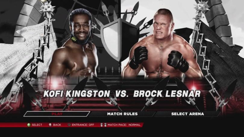 WWE 4th July 2015 Brock Lesnar Vs Kofi  kingston Fight HD Video Result Winner