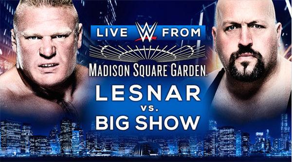 WWE MSG Fight Big Show vs Brock Lesnar