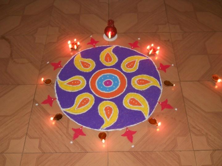 diwali rangoli images pics