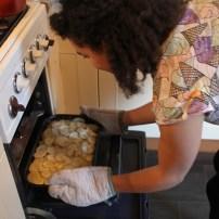 Aardappelgratin in de oven