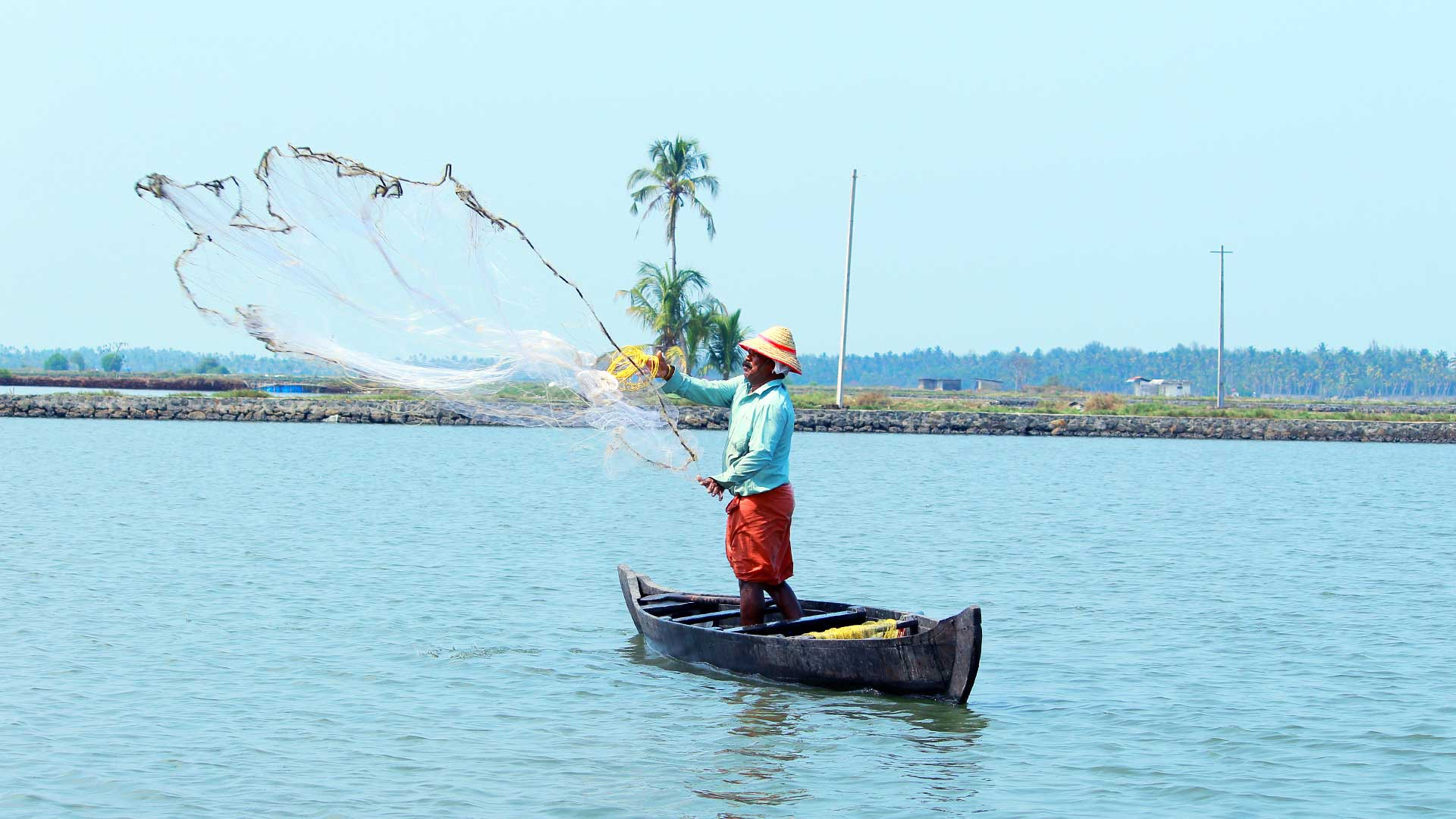 North Paravur - Muziris Heritage Site_Backwater_Fisherman