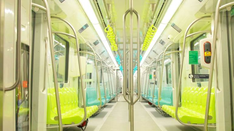 Kochi-Metro-Rail-Train-Seats-Priority seats in Kochi metro