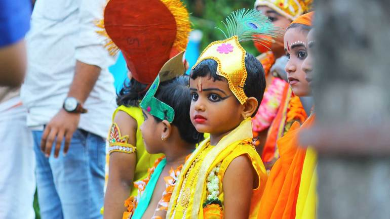 Janmashtami-Celebrations-Shobha-Yatra-Little-Krishna