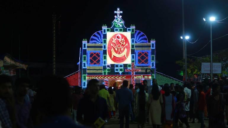 St.-Thomas-Church-(Mar-Thoma-Cheriya-Palli)-decorated-with-illumination-lights---Kanni-20-festval-Night, Mar Thoma Cheriapally