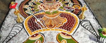 Kalamezhuthu-Pattu-Devi, Kalamezhuthu Pattu