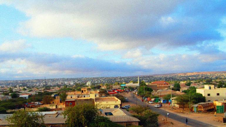 Hargeisa,-capital-city-of-Somaliland,-East-Africa-in-the-Summer