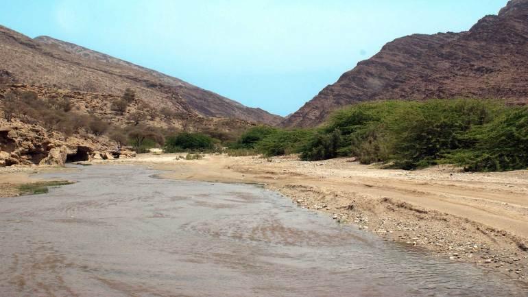 Rocky-hill-areas-near-Berbera-beach,-Somaliland