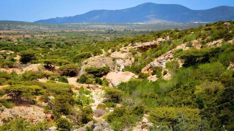 Valley-of-Sheikh-mountains,-Woqooyi-Galbeed,-Sheikh-village-Somaliland