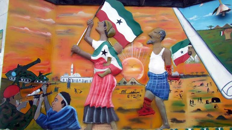 War-memorial-at-Freedom-square,-Hargeisa-Somaliland
