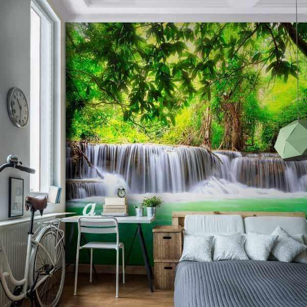 Fototapete Schlafzimmer Wasserfall