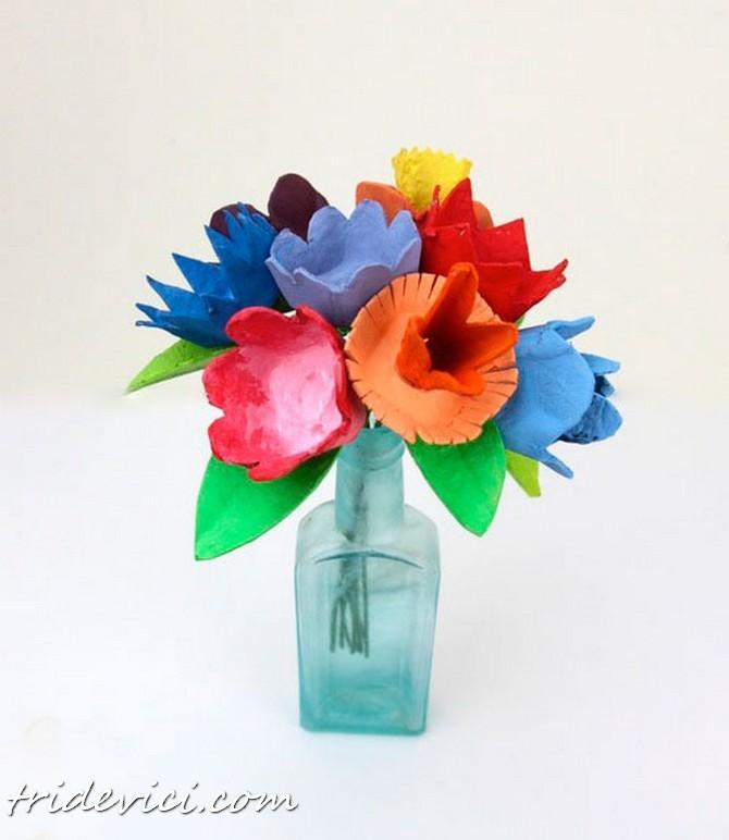 Blumen aus Eierkarton basteln  DekoKing  DIY Bastelideen