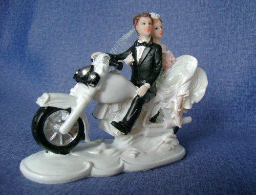 Brautpaar auf weissem Motorrad  dekor24 DIMECOdeko