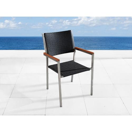 Beliani Krzesło ogrodowe GROSSETO 12205