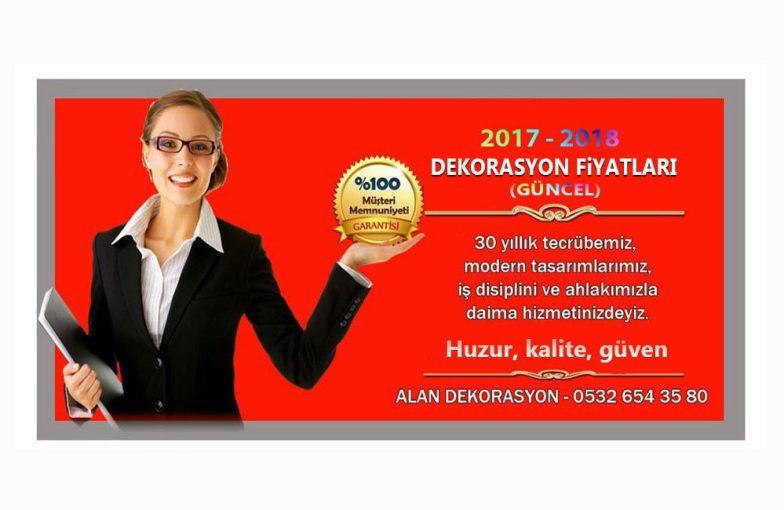 Dekorasyon ve tadilat fiyatları