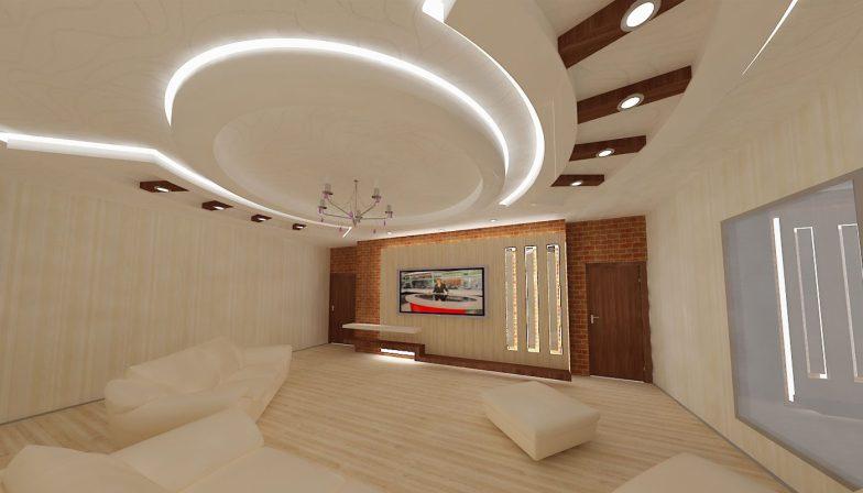 yatak odası için asma tavan 7