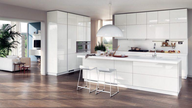 beyaz mutfak modeli
