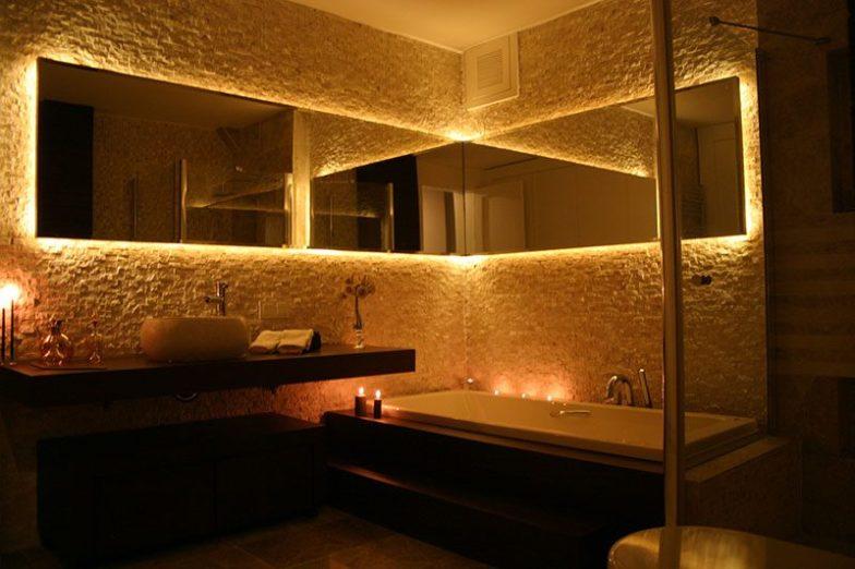 patlatma taş banyo dekorasyonu